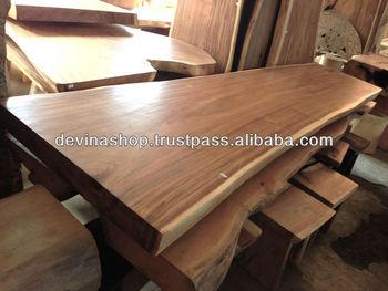 Acacia Holz Solide Platte Holz Esstisch 3 Meter Buy