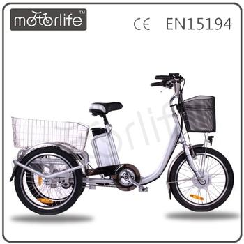 Motorlife/oem-grüne Engrey 3-rad-elektro-bike/drei Rad