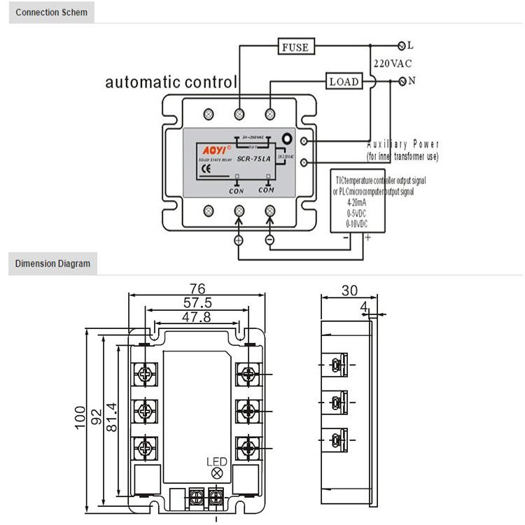ac voltage regulator circuit SCR-40LA, View ac voltage