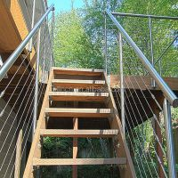 Wire/cable Stainless Steel Stair Railing,Indoor Stair ...