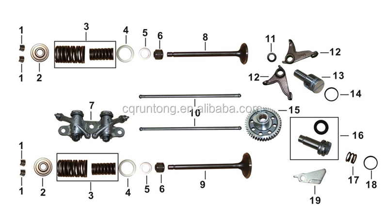 Cg175d Motorcycle Engine Parts/motorcycle Inlet And Outlet