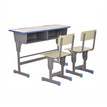 chair connected to desk salon waiting chairs cheap adjustable double student school table set a1801