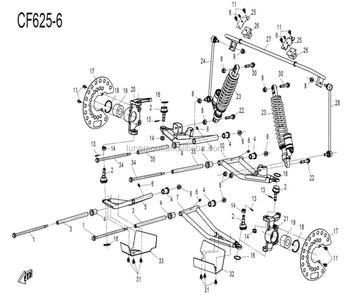 Cfmoto Zforce 600 Front Suspension Parts,9060-050103,30499