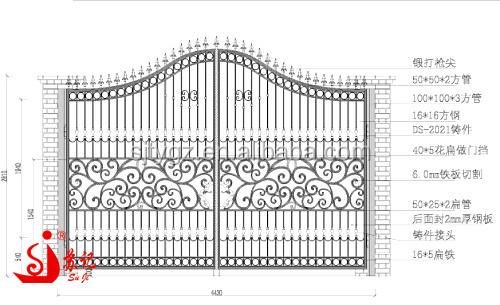Economical & Practical Wrought Iron Main Gate Iron Gate