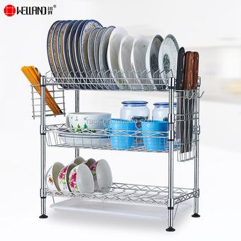 kitchen drying rack rolling island with seating diy 铬金属3 层厨房晾衣架 nsf 批准 buy 3 层晾衣架 碗盘机架 厨房晾