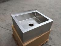 Handmade R19 Corner Stainless Steel Mop Sink