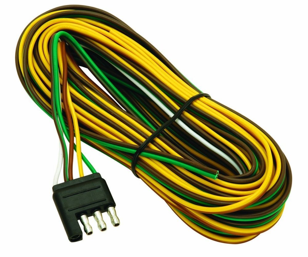 medium resolution of wesbar 707261 wishbone style trailer wiring harness with 4 flat connector