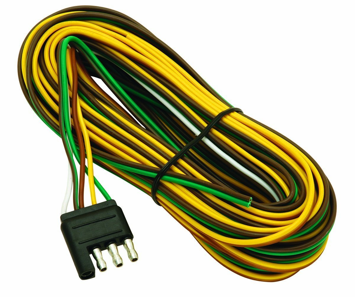 hight resolution of wesbar 707261 wishbone style trailer wiring harness with 4 flat connector