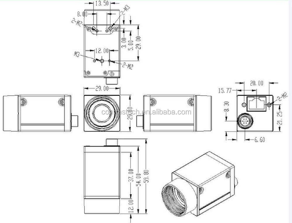 Ex500mps Supply Mono Machine Vision C Mount Mini Hd Camera