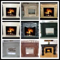 White Artificial Stone Fireplace Flames