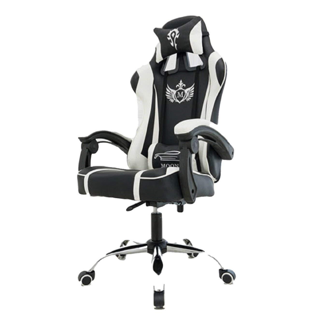 office chair ergonomic cushion dining room chairs with arms cheap for find get quotations moonstar gaming computer desk 150 degree angle adjustable waist head