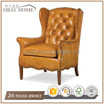 traditional armchairs for living room in button tufted leather comfortable luxury wing chairs lounge