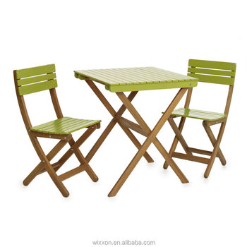 foldable table and chairs garden white outdoor chair cushions wooden folding set bistro