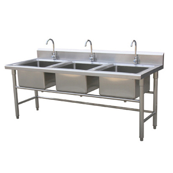 triple sink kitchen granite sinks size drop in with drainboard elkay farm