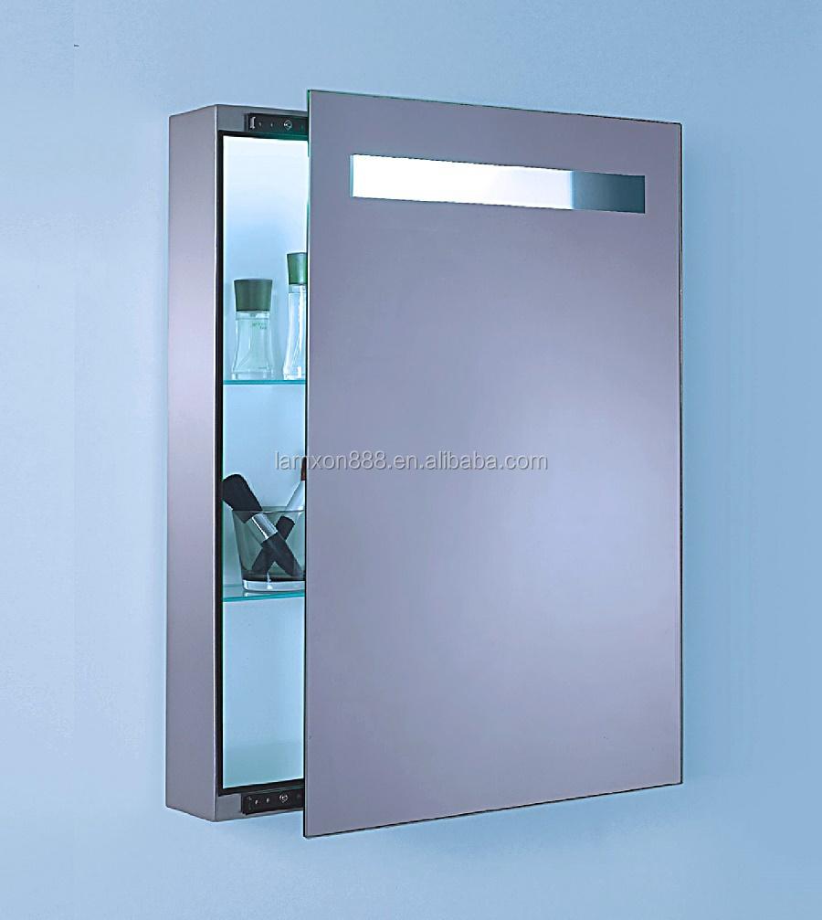 Electric Bathroom Mirror Cabinet With LightSliding Mirror