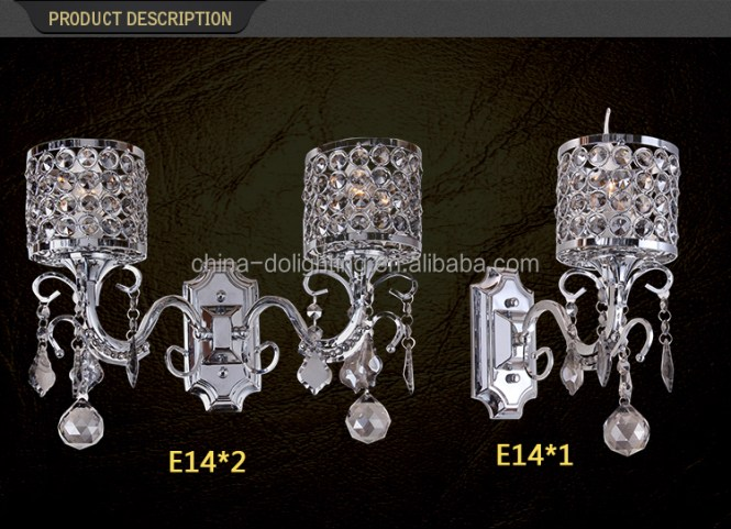Alibaba Express China 2016 Asfour Crystal Chandelier Prices Vintage Wall Lamp Mounted
