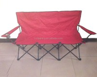Folding Double Seat Beach Chair,2 Seat Camping Chair,2 ...
