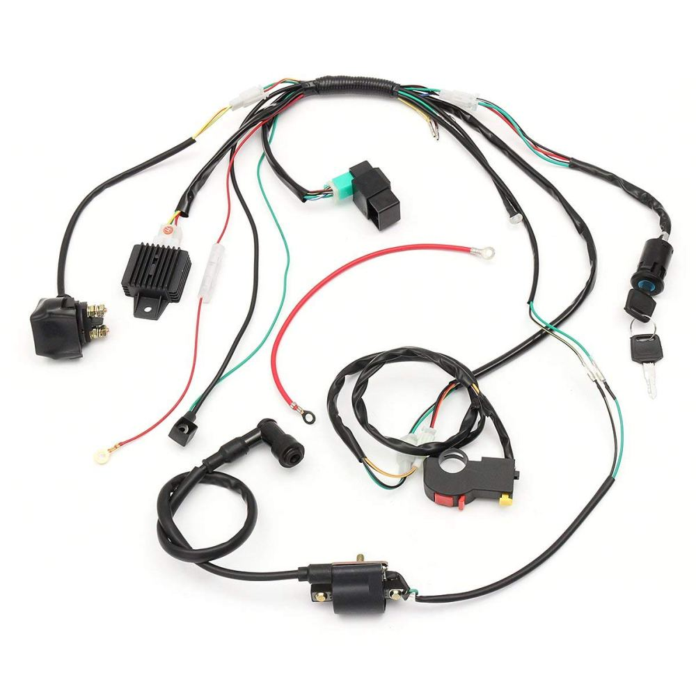 medium resolution of hitsan wiring harness loom solenoid coil rectifier cdi for 50cc 70cc 90cc 110cc 125cc atv quad