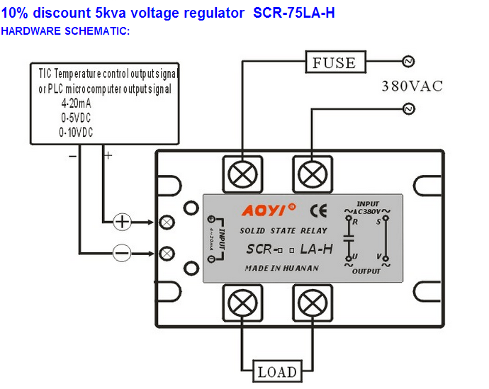 High Voltage 380vac 4-20ma Ac Solid State Relay Voltage