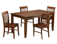 4 Dining Table And 4 Chairs For Dining Room /wood Dining ...