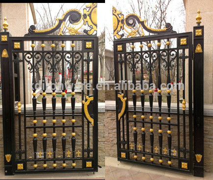 Popular Swing Open Wrought Iron House Gate Designs Buy House