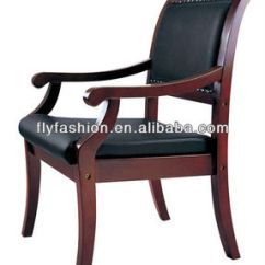 Wood And Leather Office Chair Active Wooden Arms Antique Arm Chairs Oc 53c Buy