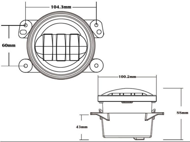 Morsun New 4'' 1440lm 30w Led Fog Light/driving Light/drl