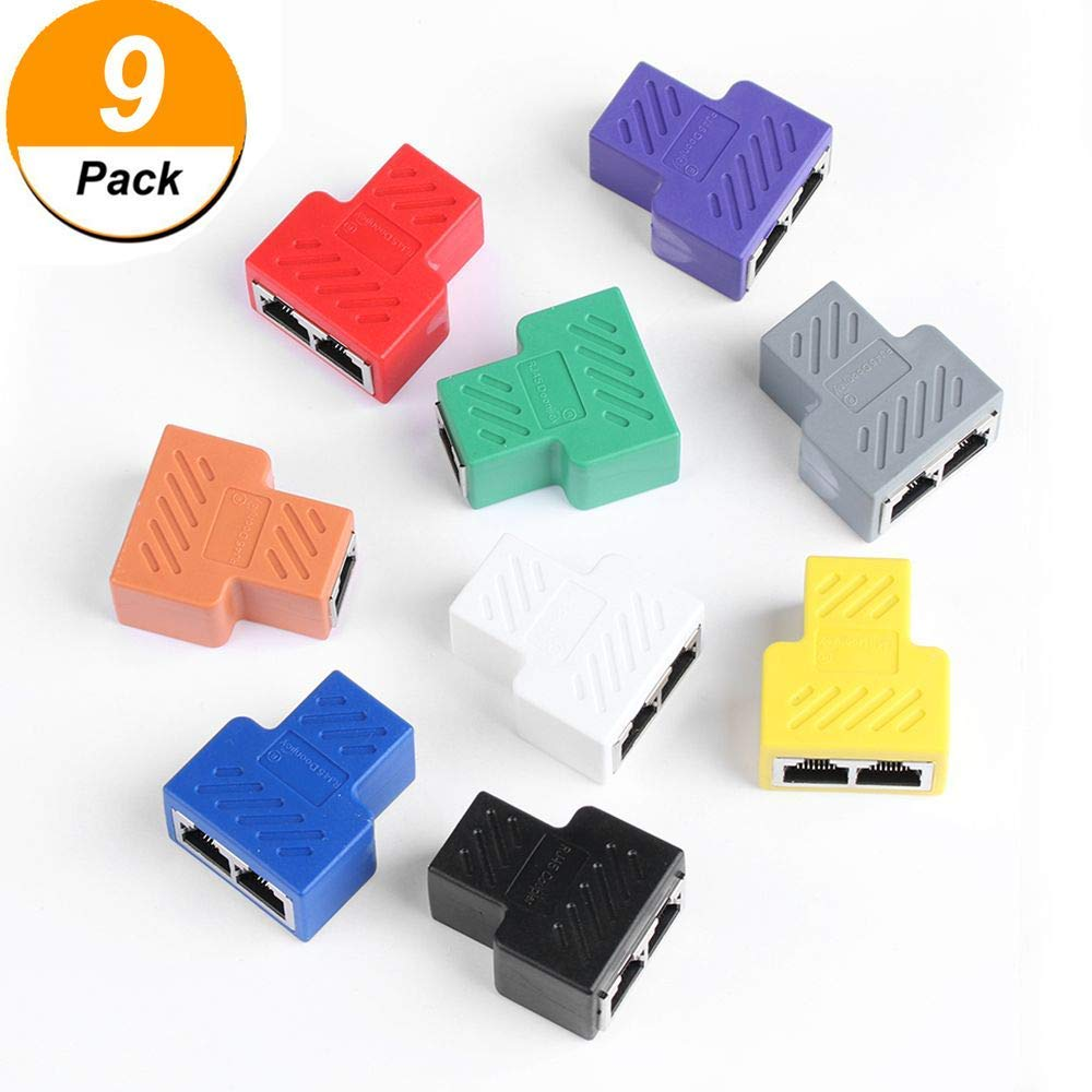 hight resolution of get quotations rj45 splitter adapter multi color 1 to 2 port usb to rj45 socket adapter