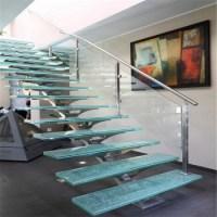 Modern Prefab Metal Stair Railing Residential Steel Stairs ...