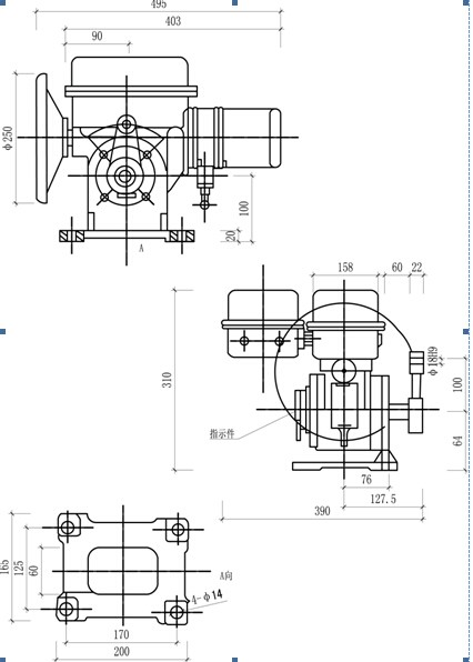 As25f30h Butterfly Valve With Quarter Turn Electric