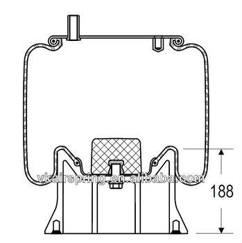 HENDRICKSON S5060 natural rubber air spring/1R12-145 air