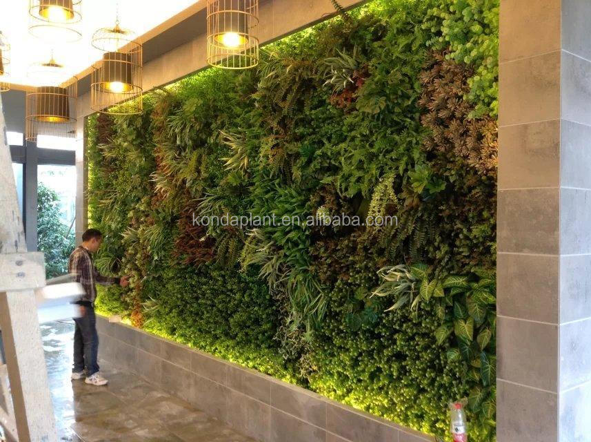 China Indoor & Outdoor Home Decor Artificial Plants Wall Fake