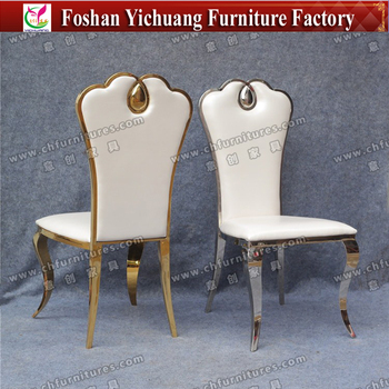 white leather chairs for sale desk tall man yc ss29 01 luxury stainless steel chair buy