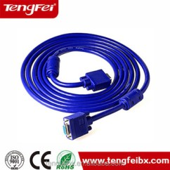Vga Extension Cable Wiring Diagram Major Muscle To Label 20 Meters 15pin Scart Dvi Thin Flat Rgb Rs232