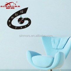 Chair Upside Down On Wall Vintage Sewing E Letter Sticker Home Decorative Clock 3d Acrylic