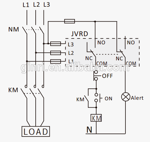 Ginri Jvrd-380w Three Phase Reversal Relay/phase Loss