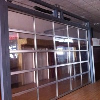 Finger Protection Sectional Aluminum Full View Glass ...