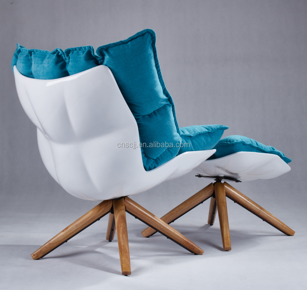swivel chair em portugues event covers wholesale modern patricia urquiola husk leisure fabric armchair