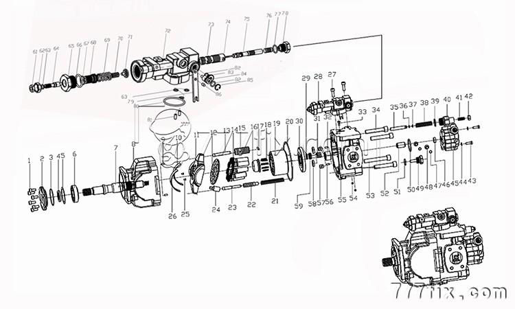 PVC110R hydraulic pump unit&parts, View hydraulic oil