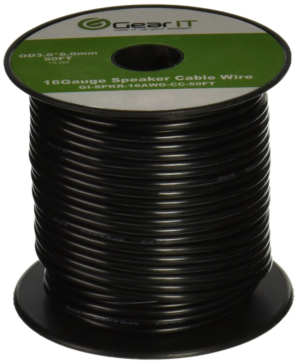 medium resolution of get quotations 16awg speaker wire gearit pro series 16 gauge speaker wire cable 50 feet
