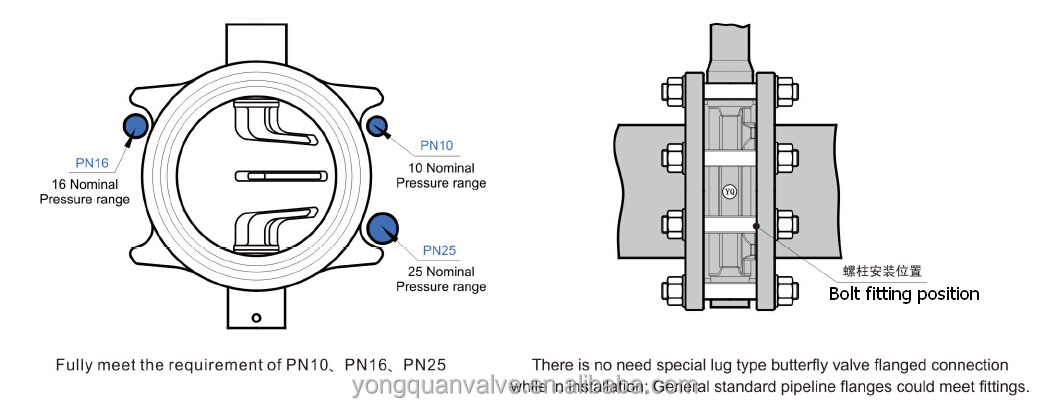 Zsdf-b Worm Gear Operated Lug Type Concentric Rubber Lined