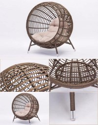 Creative Nest Clubhuis Zwembad Rotan Ronde Chaise Lounge ...