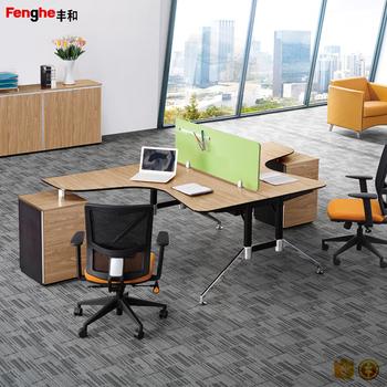 design moderne bas cloison panneau de table de bureau pour 2 personnes