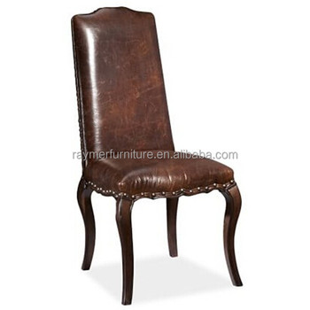brown leather high back dining chairs leggett and platt chair parts antique dark upholstered restaurant buy