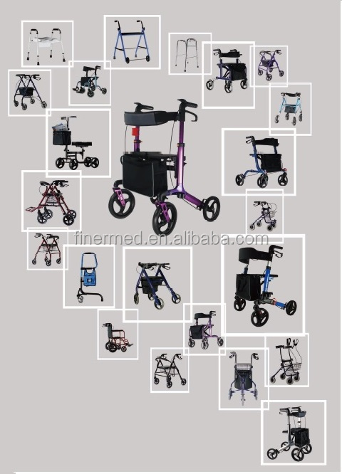 Full Function Power Handicapped Wheelchair With Led Light