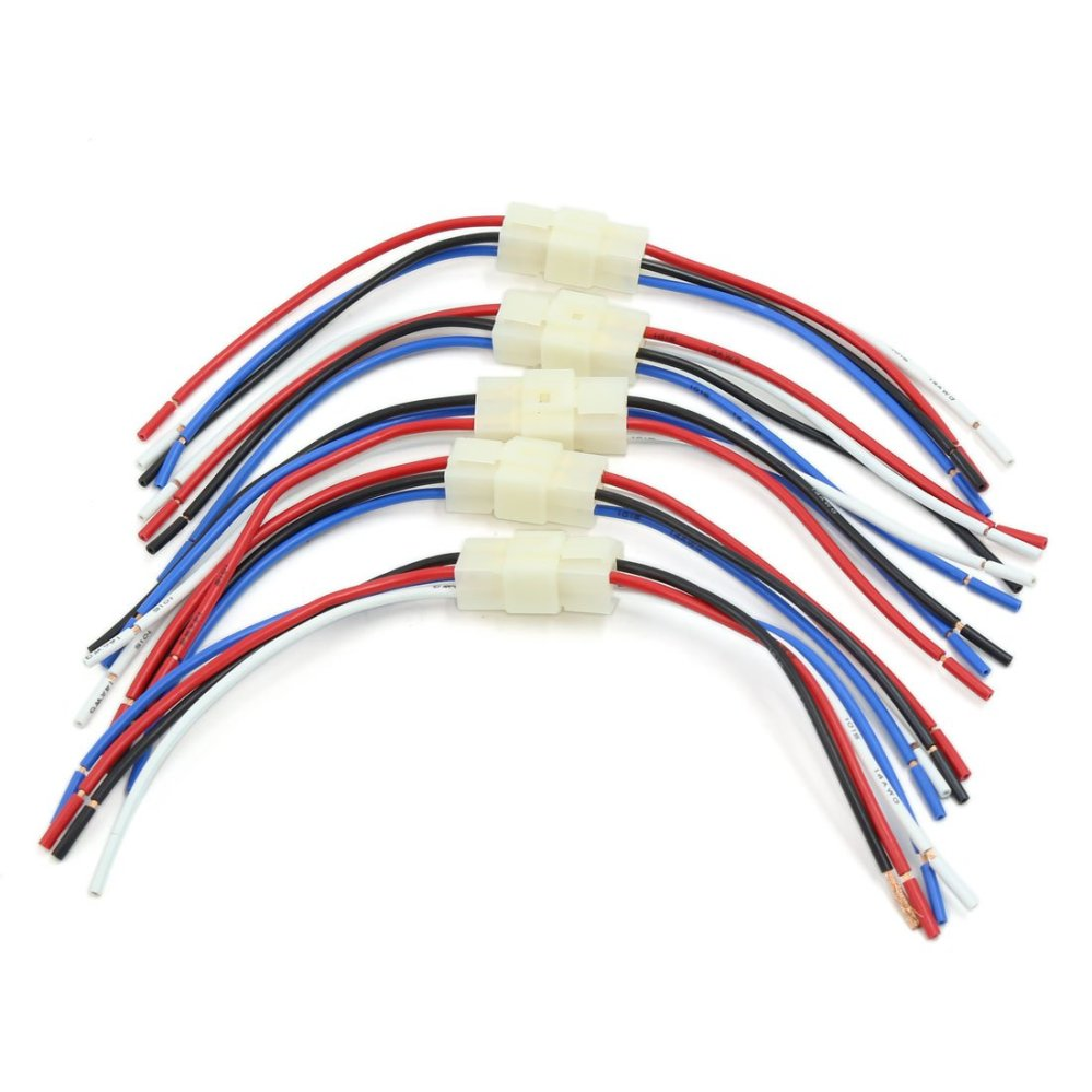 medium resolution of get quotations uxcell 31cm long car audio radio wiring harness 4 pins adapter connector 5pcs