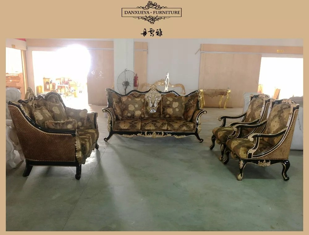arabic living room furniture modern side chairs for sofa indian carved wood royal luxury