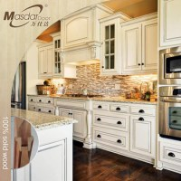 Ready To Assemble Modern Solid Wood Kitchen Cabinets