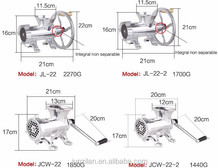 Jl-22 Aluminum Alloy Industrial Electric Meat Chopper