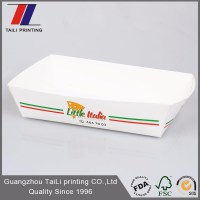 Custom Printed Disposable Paper Food Tray/fast Food ...